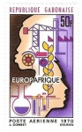 Stamps : Africa : Gabon :  Africa-Europa