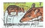 Sellos de Africa - Gabón -  Fauna