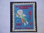 Sellos de America - Colombia -  Sello Viñeta, Beneficencia de la Liga Antituberculosa Colombiana 1961.