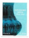 sello : Europa : Francia : Jarrón
