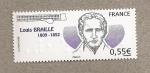 Sellos del Mundo : Europa : Francia :  Louis Braille, inventor del método de lectura para ciegos