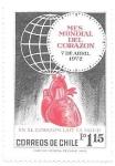 Sellos del Mundo : America : Chile : corazón