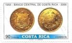 Stamps Costa Rica -  monedas