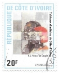 Stamps Africa - Ivory Coast -  pintura