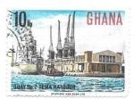 Sellos del Mundo : Africa : Ghana : puerto