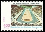 Stamps Africa - Equatorial Guinea -  100 juegos Olimpicos - Atlanta 96 - estadio olímpico de Atenas 1896