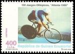 Sellos de Africa - Guinea Ecuatorial -  100 juegos olímpicos - Atlanta 96 - Ciclismo