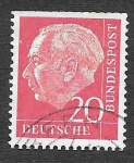 Stamps Germany -  710 - Theodor Heuss