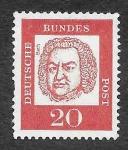 Stamps Germany -  829 - Johann Sebastian Bach