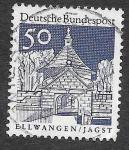 Stamps Germany -  943 - Edificios Alemanes
