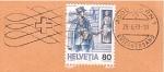Stamps : Europe : Switzerland :  Entrega del correo
