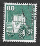 Stamps Germany -  1178 - Tractor