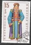 Stamps Mongolia -  526 - Trajes Regionales