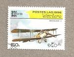 Sellos de Asia - Laos -  Aeroplano DeHaviland 4