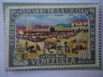 Stamps Venezuela -  Cuatricentenario de la Ciudad de Caracas, 1567-1967 - La Plaza Mayor