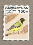 Stamps Asia - Azerbaijan -  Pájaro Oriolus xanthornus