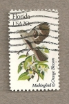 Stamps United States -  Flores y aves-Florida