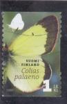 Sellos del Mundo : Europa : Finlandia :  Mariposa-Colias paleano