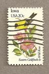 Sellos de America - Estados Unidos -  Flores y aves-Iowa