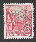 Stamps Germany -  228 - Stalin Boulevard