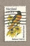 Sellos de America - Estados Unidos -  Flores y aves-Maryland
