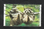 Stamps : Europe : Germany :  Crías de mapache