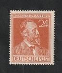 Stamps : Europe : Germany :  53 - 50 anivº de la muerte de Heinrich von Stephan