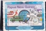 Sellos de Oceania - Papúa Nueva Guinea -  AÑO INTERNACIONAL DE LAS COMUNICACIONES