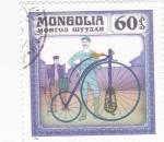 Sellos de Asia - Mongolia -  bicicletas de epoca