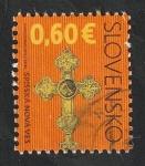 Stamps : Europe : Slovakia :  547 - Cruz de la iglesia de la Asunción de la Virgen María