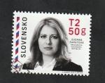 Sellos del Mundo : Europa : Eslovaquia : Zuzana Caputová, Presidenta de Eslovaquia