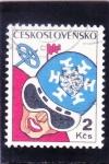 Sellos de Europa - Checoslovaquia -  ESQUI