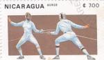 Stamps : America : Nicaragua :  JUEGOS DEPORTIVOS PANAMERICANOS