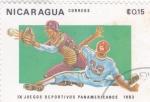 Stamps of the world : Nicaragua :  JUEGOS DEPORTIVOS PANAMERICANOS