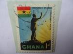 Stamps of the world : Ghana :  Kwame Nkrumah (1909-1972)-Casa del Parlamento-Presidente de la República de Ghana (1960-1966)