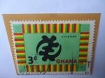 Stamps of the world : Ghana :  Gye Nyame-Símbolo Religioso (Solo Dios)-Serie:Símbolos y Monumentos.