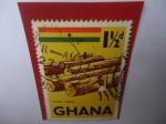 Stamps of the world : Ghana :  Ghana Timber - Exportación de Madera - Serie:Símbolos y Monumentos.