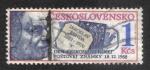 Stamps : Europe : Czechoslovakia :  Día del sello, Jaroslav Benda (1882-1970), ilustradora y diseñadora de sellos.