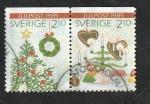 Stamps : Europe : Sweden :  1554 y 1555 - Navidad