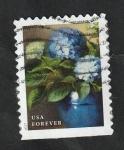 Stamps : America : United_States :  5063 - Flor de jardín, Hydrangeas azules