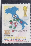 Sellos del Mundo : America : Ecuador :  MUNDIAL DE FUTBOL ITALIA'90