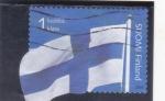 Sellos del Mundo : Europa : Finlandia :  BANDERA