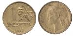 monedas del Mundo : Europa : España :  1 peseta República Española