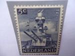 Sellos del Mundo : Europa : Holanda : Crucero El Ruyter - Serie: Liberación