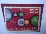 Sellos del Mundo : Europa : Liechtenstein : Liechtenstein - Europa (C.E.P.T.) Engranajes- Radares.