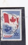 Stamps Canada -  BANDERA CANADIENSE