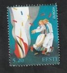 Sellos del Mundo : Europa : Estonia : 315 - Europa, Pareja bailando delante de una hoguera en la noche de San Juan