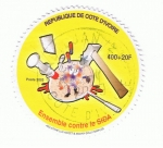 Stamps Africa - Ivory Coast -  Ensemble contre le SIDA
