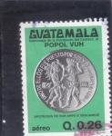 sello : America : Guatemala : MONEDA