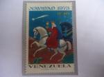 de America - Venezuela -  Navidad 1973 - Rey Mago montado en un caballo Blanco.